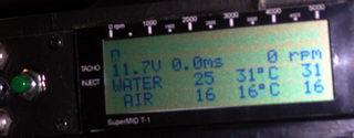 通電後の水温